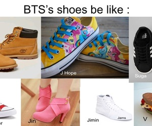jin, memes, and shoes image