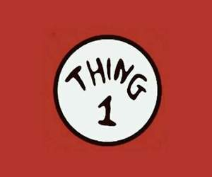 wallpaper, thing 1, and friends image
