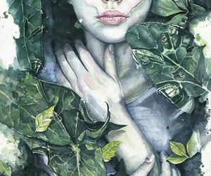 art, girl, and nature image