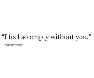 empty, feel, and sad image