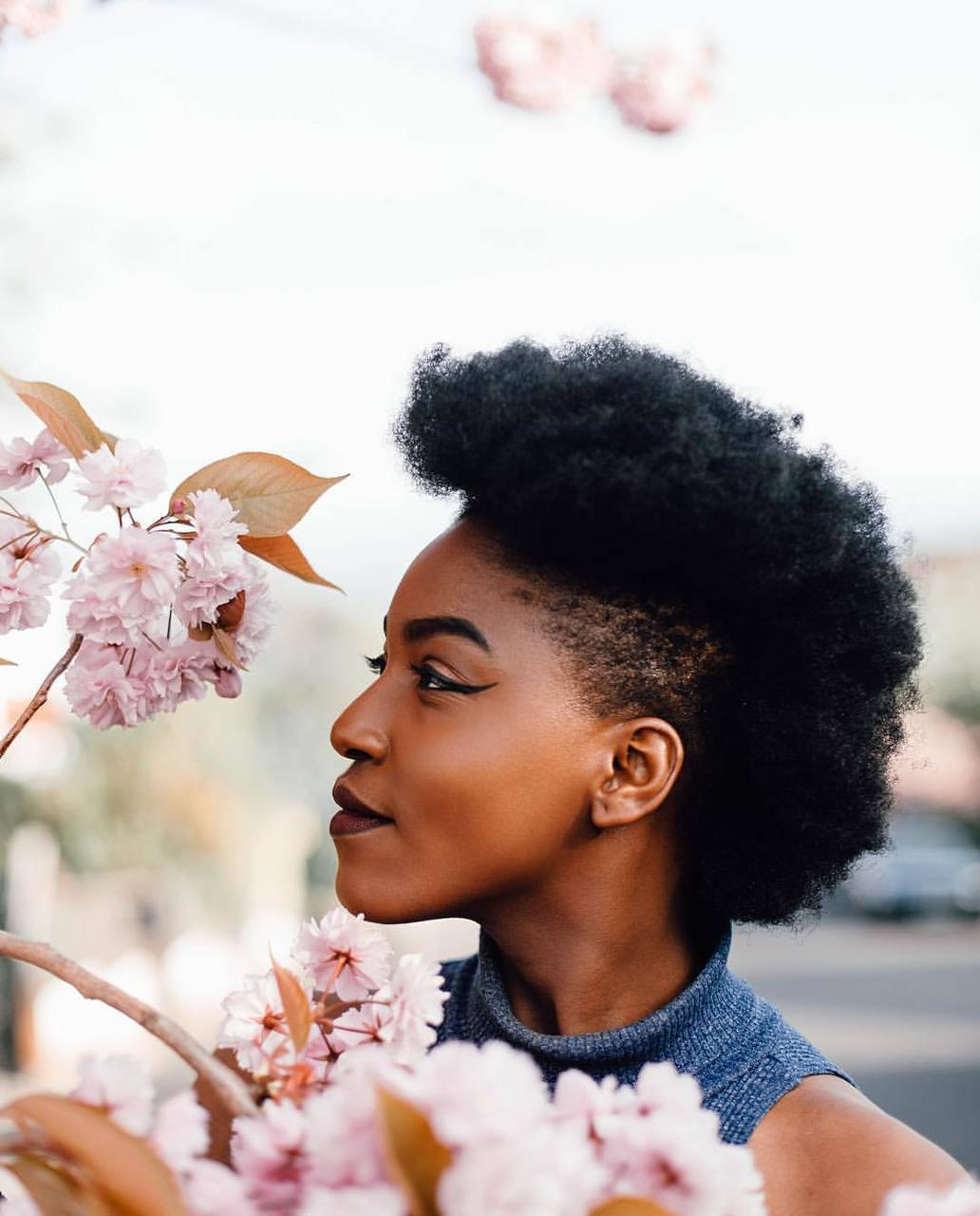 Marianne Marianneolaleye Afro Hair Natural Hair Kinky Hair Shaved Sides Short Hair Short Natural Hair
