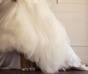 bride, dress, and heels image