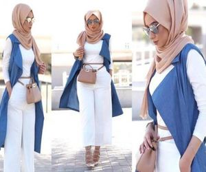 hijab, outfit, and summer image