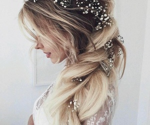 accessories, blonde, and bride image