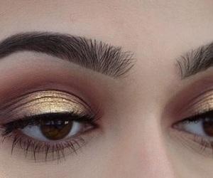 eyebrows and eyeshadow image