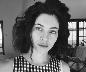 marina and the diamonds, black and white, and hair image