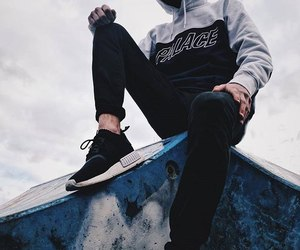 guy, skater, and street clothes image