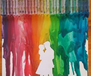 couple, crayons, and dancing image