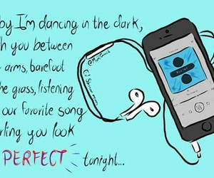 perfect, frases, and music image