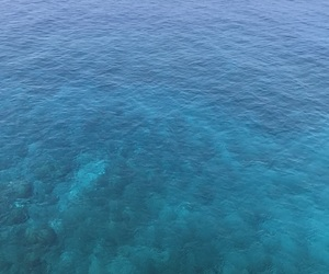 blue, cliff, and ocean image