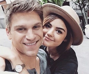 lucy hale, pretty little liars, and keegan allen image