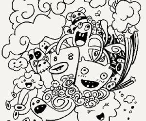 dibujos, niños, and colorear image