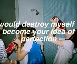 destroy, perfection, and quotes image