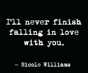 falling in love, him, and quote image