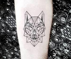 tattoo, wolf, and wolf tattoo image