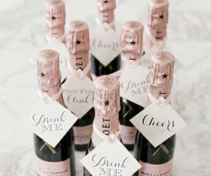 champagne, pink, and drink image