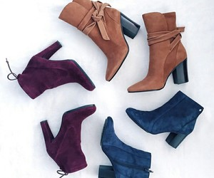 boots, shoes, and blue image