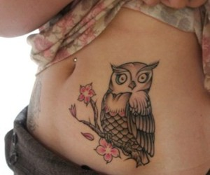 ink, owl, and pretty image
