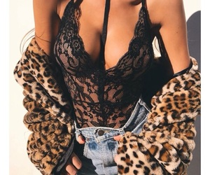 clothes, leopard, and denim image