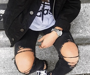 aesthetic, alternative, and black jeans image