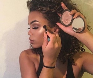 makeup, highlighter, and highlight image