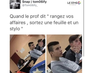 drole, prof, and francais image