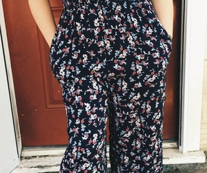 fashion, floral, and jumper image