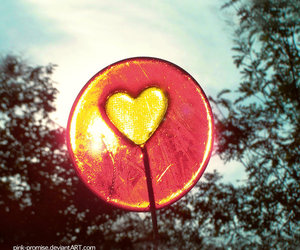 heart, lollipop, and cute image