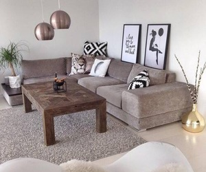 beautiful, living room, and brown image