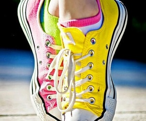 colors, neon, and sneakers image