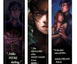 books, feyre, and night court image