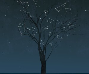 constellations, stars, and heart image