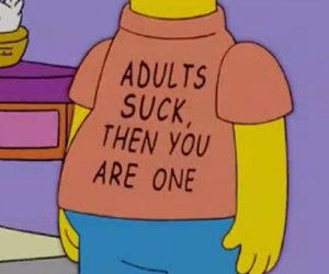 Adult, simpsons, and sucks image