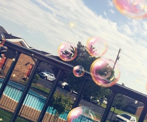 bubbles, swimming pool, and ready for summer image