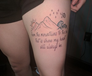 inked, mountains, and sea image