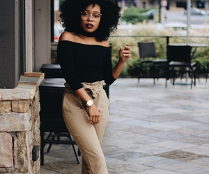 black woman, trendy, and casual image