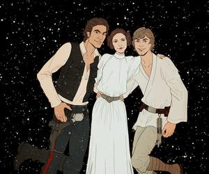 star wars, han solo, and leia organa image