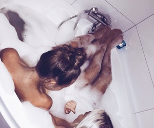 bath, sister, and bestfriends image