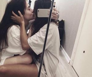 lesbian, cute, and kiss image