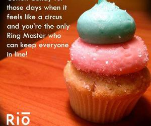 blue, cupcakes, and rio image