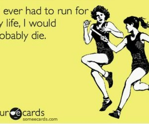 funny, run, and die image