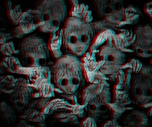 creepy, scary, and monste image