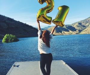 21, balloons, and birthday image