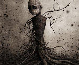 dark, art, and tree image