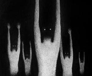 creepy, scary, and art image