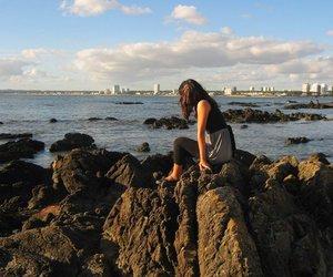 beach, rocks, and sea image
