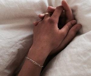beautiful, cuddle, and hand image