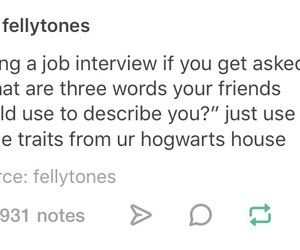 harry potter, tumblr, and job interview image