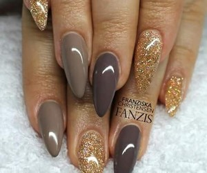 brown, glittery, and gold image