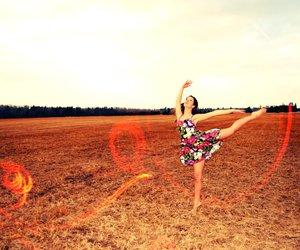 arabesque, dance, and dancer image